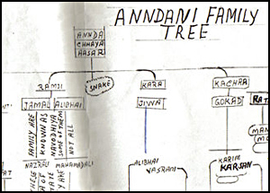 Zameer Andani's family tree