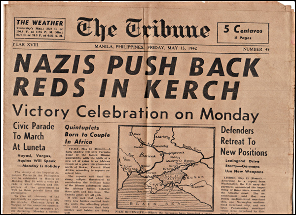 Nazis Push Back Reds in Kerch